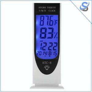 Digital Thermometer Hygrometer Humidity Measurement Alarm Clock Date Led Light