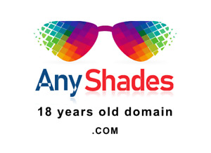 Anyshades com Premium Brandable Keyword Domain Name For Sale 18 Years Old