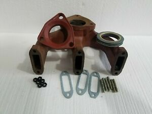 Exhaust Manifold For Deutz F3l 912 913 3 Cylinder With Stud Kit And Donut Flange