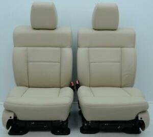 2004 2005 2006 2007 2008 Ford Lariat F 150 Oem Front Lt Parchment Leather Seats