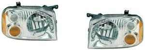 Headlights For Nissan Frontier 2001 2002 2003 2004 Se Xe Chrome Pair