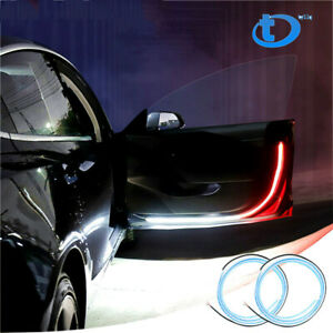 2pcs Car Door Open Warning Lamp Flashing Led Lights Strip Anti collision Safety