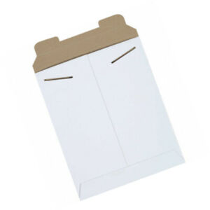 Stayflats Tab Lock Mail Mailing Envelopes Mailers 8 1 2 x10 1 2 White 100 Pack