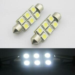 2x 6smd 5050 Led Festoon Interior Dome Map Instrument Light Bulb Xenon White 578