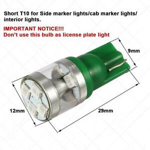2 Green T10 194 Led Light Bulb 8 2835 smd Interior Dome Map Instrument Lights