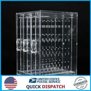 Acrylic Earring Ear Studs Storage Box Jewelry Display Stand Necklace Holder