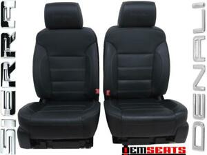 Gmc Sierra Denali Silverado Oem Leather Heat Ac Seats 2014 2015 2016 2017 2018