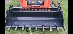 84 4 in 1 Severe Xtreme Duty Tooth Bucket Skid Steer Attachment Ship 299