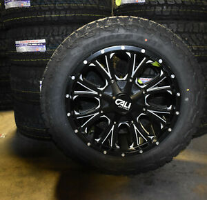 20x9 Mayhem 9101 Black Wheels 32 At Tires Package 6x135 Ford F150 Expedition