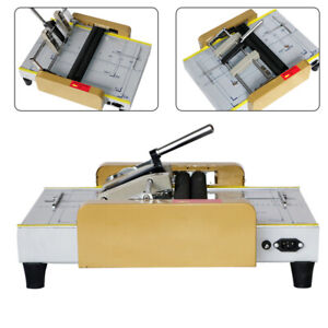 A3 Booklet Making Machine Paper Bookbinding And Folding Booklet Stapling 110v Us