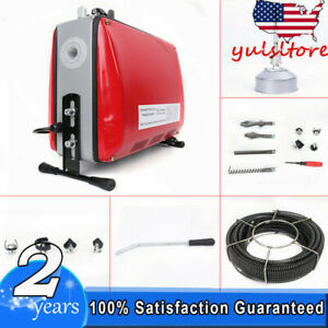 3 4 6 Electric Spiral Pipe Drain Cleaner Cleaning Machine Commercial Sewage