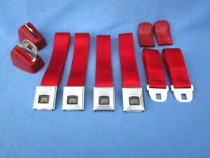 1966 67 Gto Chevelle Olds 442 Skylark Deluxe Gm Carriage Logo Seat Belts Red