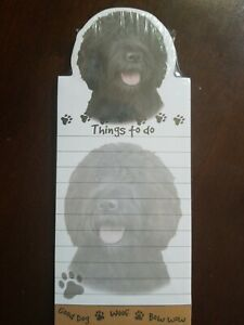 Lot Of 2 labradoodle Magnetic List Pads Uniquely Shaped Sticky Notepad