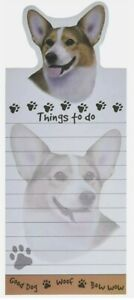 Lot Of 2 welsh Corgi Magnetic List Pads Uniquely Shaped Sticky Notepad