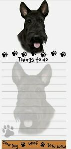 Lot Of 2 scottie Magnetic List Pads Uniquely Shaped Sticky Notepad
