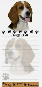 Lot Of 2 beagle Magnetic List Pads Uniquely Shaped Sticky Notepad