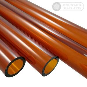 Pyrex Amber Color Glass Blowing Tubing 12mm X 2mm 5 Pieces 4 Long Free Shipping