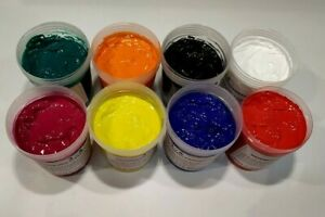 Water Based Screen Printing Ink For Fabric Paper And Card Starter Kit 8 Color
