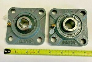 2 Qty Ucf204 12 Solid Base Pillow Block Flange Mounted Bearing 3 4 Bore 4 Bolt