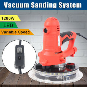 1280w Drywall Sander Electric Variable Adjustable Speed Sanding Pad W Led Light