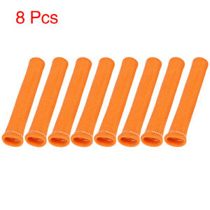 8 Pcs High Heat Shield Engine Spark Plug Wire Boots Protector Orange For Car
