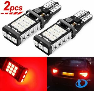 Super Bright Red Canbus Led Bulb For Car Backup Reverse Light 912 921 T15 W16w