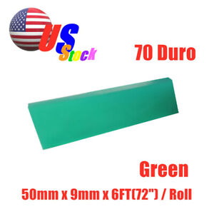 Usa 6ft 72 Silk Screen Printing Squeegee Blade 70 Duro Polyurethane Rubber