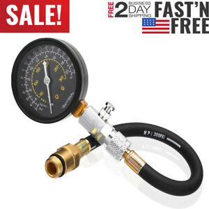 Engine Compression Tester Testing Gauge Gage Gas Check Test Tool Kit