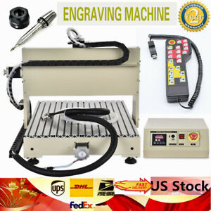 Usa 3 Axis Cnc 6040 Router Engraver Drilling milling Machine 1 5kw Vfd handwheel