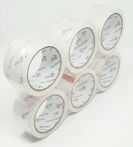 1 360 Rolls Carton Sealing Packing Packaging Shipping Tape 2 Mil 2x55 Yards