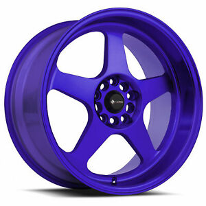 4 new 18 Vors Sp1 Wheels 18x8 18x9 5x108 35 35 Candy Purple Blue Staggered Rims