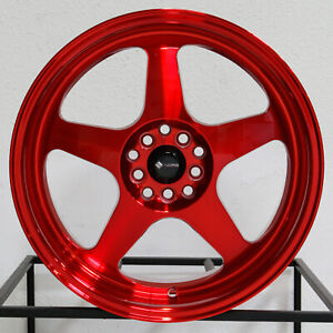 4 new 18 Vors Sp1 Wheels 18x8 18x9 5x105 35 35 Candy Red Staggered Rims 73 1