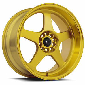 4 new 18 Vors Sp1 Wheels 18x8 18x9 5x120 35 35 Candy Gold Staggered Rims 73 1