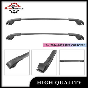 Cross Bars Roof Rack Top Cargo Carrier Aluminum For 2014 2020 Jeep Cherokee