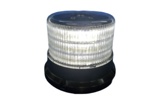 5 Cylinder White Clear Led Beacon Warning Dome Permanent Mount 3 Wire 4 Pattern