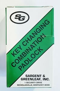 Sg Sargent Greenleaf 8077ad Key Changing Combination Padlock With Key 8077 Ad