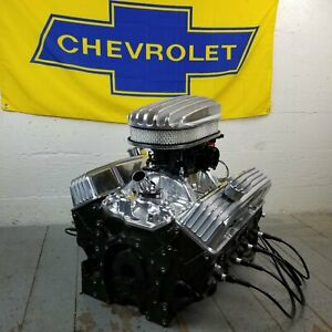 Sb Chevy 15 Deep Fin Ac Engine Dress Up Kit Tall Valve Covers Pcv Breathers 350
