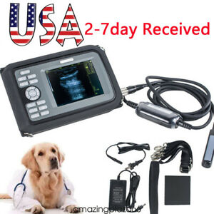 Usa 5 5 Inch Veterinary Portable Digital Ultrasound Scanner probe battery Fda ce