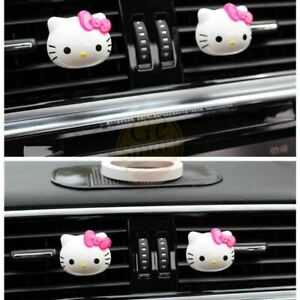 6pcs Lovely Hello Kitty Air Freshener Perfume Diffuser For Auto Car Fragrance