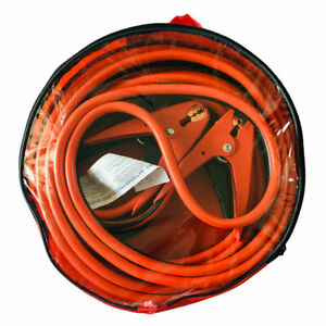 20 Ft 2 Gauge Heavy Duty Power Booster Cable Emergency Car Battery Jumper Us New