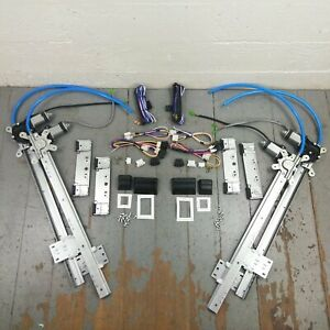 49 56 Plymouth Chrysler Power Window Kit 3 Switches Flat Glass Vintage Style