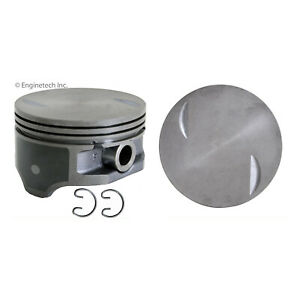 Enginetech P3077 8 030 Piston Gm Chev 8 1l 496 Flat Top Coated Skirt