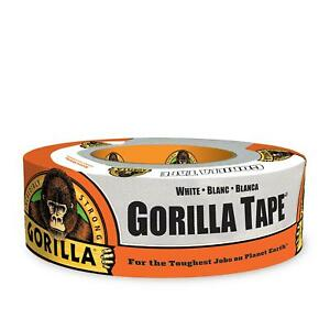 Gorilla Tape White Duct Tape 1 88 X 30 Yd White pack Of 1