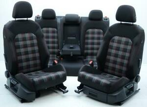13 2014 2015 2016 2017 2018 Volkswagen Golf Gti Mk7 Front Rear Plaid Cloth Seats