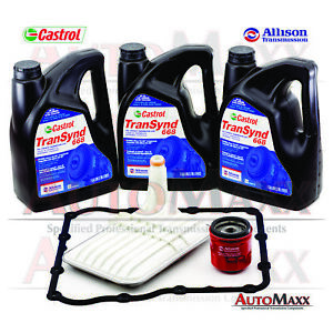 Allison Transynd Full Synthetic Transmission Fluid Service Pkg 3 Gal 2 Filter Fits Gmc