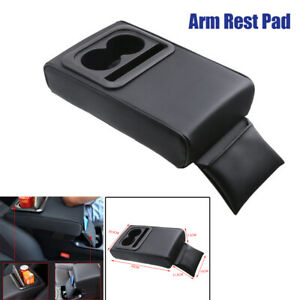 Universal Car Armrest Pad Cover Center Console Box Heighten Elbow W Cup Holder
