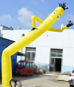 20ft Yellow Air Inflatable Dancing Puppet Dancer Wind Flying Dancer No Blower Us