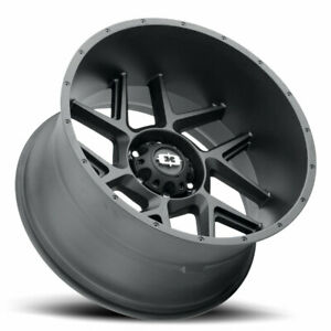4 new 20 Vision 360 Sliver Wheels 20x10 6x5 5 6x139 7 29 Black Rims Mags