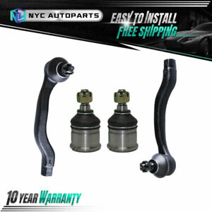 2x Front Lower Ball Joint 2x Front Outer Tie Rod For Honda Civic Cr v Acura El