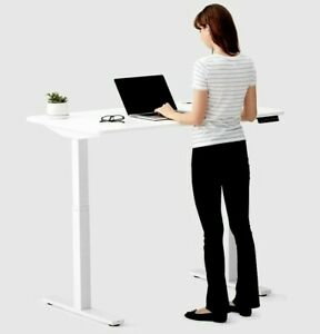 Electric Sit stand Standing Desk adjustable Height Desk W dual Electric Motors